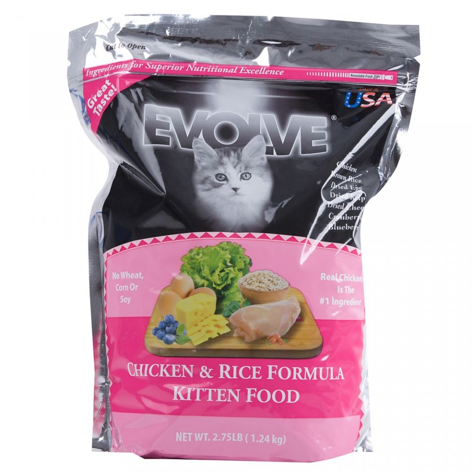Evolve Chicken & Rice Kitten Formula Cat Food