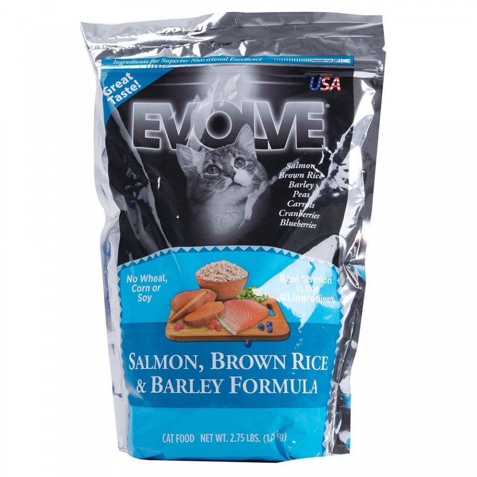 Evolve Salmon, Brown Rice & Barley Formula Cat Food